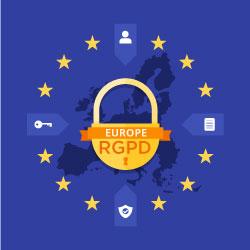 Logo politique des cookies et RGPD